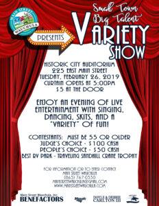 BIG TALENT VARIETY SHOW @ Historic City Auditorium